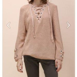 Chicwish lace up sweater